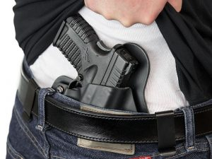 a tucked inside the waistband holster