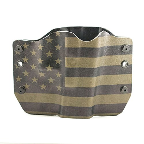 Green & Black USA Flag Kydex outside waistband holsters (OWB)