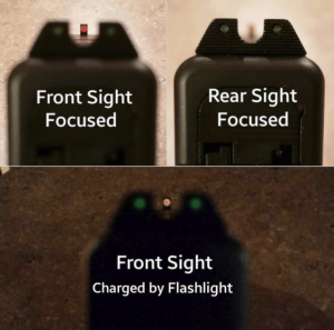 trijicon night sights focused